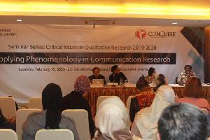 SPS USAHID  Jakarta,  Kembangkan Riset Komunikasi dengan Metode Fenomenologi