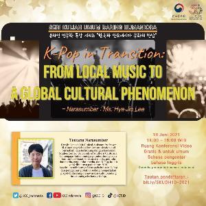 KCCI Gelar Kuliah Umum K-Pop, Musik Lokal Jadi Tren Global