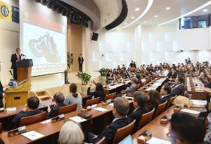Di Hankuk University, Presiden Ceritakan Aksi Akrobatik di Asian Games 2018