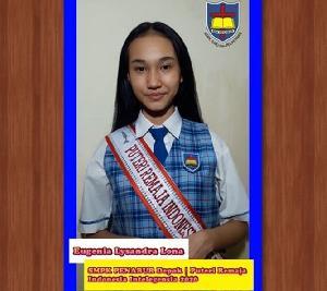 Raih Gelar Puteri Remaja Indonesia Intelegensia 2020, Lysandra Lona: Butuh Proses Panjang Menggapai Mimpi