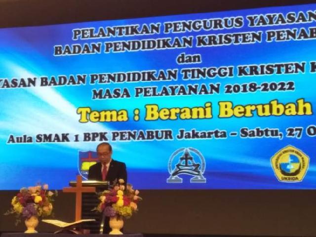 Ketua Umum BPK Penabur, Adri Lazuardi: Di Era 4.0 Sekolah Harus Berani Melakukan Perubahan