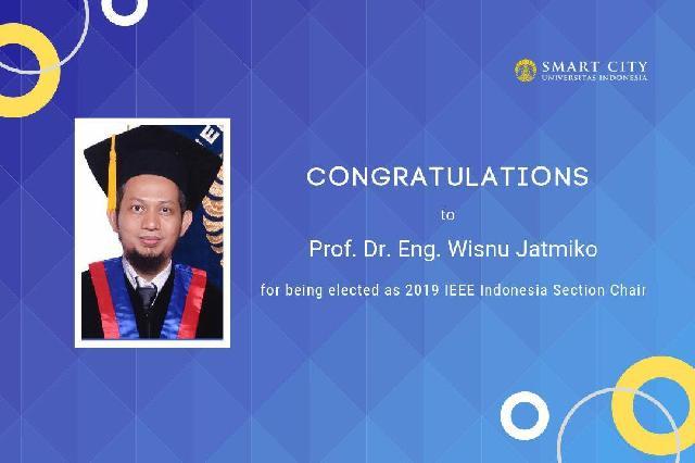 Guru Besar UI Terpilih Sebagai Ketua IEEE Indonesia
