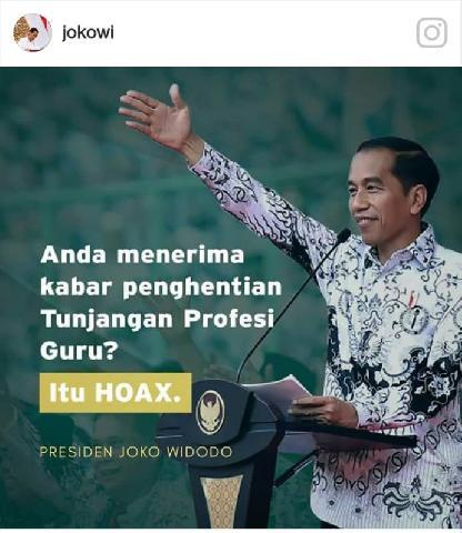 Presiden Jokowi Tegaskan Penghapusan Tunjangan Profesi Guru Hoaks