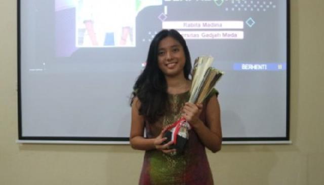 Rabita Madina Terpilih Sebagai Mahasiswa Berprestasi Nasional 2020
